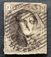 Medaillon 6 - 10c Gestempeld P112 STAVELOT - 1851-1857 Medaglioni (6/8)