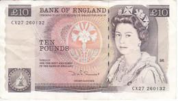 BILLETE DE REINO UNIDO DE 10 POUNDS DEL AÑO 1980-1984 (BANK NOTE) - 10 Pounds