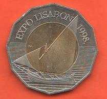 Croazia 25 Kune Croatia Kuna 1998 Lisbona Expo Bimetallic Coin - Croatia