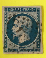YT 14B - B Belles Marges - Planché Panneau A1 Position 14 état 2 - 1853-1860 Napoleon III