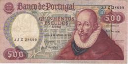 BILLETE DE PORTUGAL DE 500 ESCUDOS  DEL AÑO 1979  (BANKNOTE-BANK NOTE) - Portugal