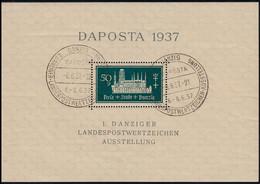 Block 1 Marienkirche DAPOSTA Mit Passendem Sonderstempel - Danzig