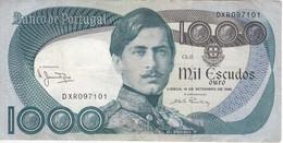 BILLETE DE PORTUGAL DE 1000 ESCUDOS  DEL AÑO 1980 SERIE DXR (BANKNOTE-BANK NOTE) - Portugal