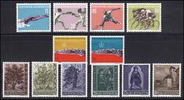 365-376 Liechtenstein Jahrgang 1958 Komplett, Postfrisch - Ohne Zuordnung
