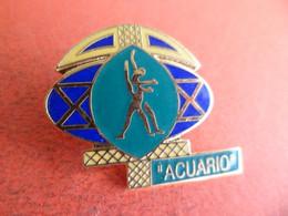 Pins Pin's émail EGF Acuario Astrología Signe Du Zodiaque Gemeau Astrologie Astrologique  Signé Club DA - Rugby