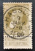 Leopold II Grove Baard 75 - 20c Gestempeld HASSELT 1 - 1905 Barba Grossa