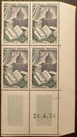 R1507/392 - 1954 - EDITION Et RELIURE - N°971 BLOC NEUF** CdF Avec CD - 1950-1959
