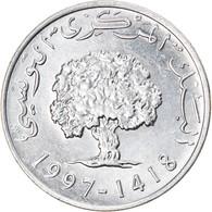 Monnaie, Tunisie, 5 Millim, 1997/AH1418, SUP, Aluminium, KM:348 - Tunisia