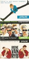 F26  Lot 3 CARTE CPM Publicitaire PUB Card Cart' Com Publicité Mode PRISUNIC Irene VANRYB COBSON - Fashion