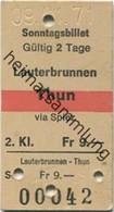 Schweiz - Lauterbrunnen Thun Via Spiez - Fahrkarte 1971 - Europa