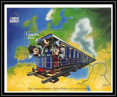 80201 Uganda Ouganda Mickey Donald Orient Express Train From Paris To Constantinople Turquie Turkey Disney Bloc (BF) Neu - Uganda (1962-...)