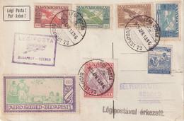 """HONGRIE : PA . """" LEGIPOSTA BUDAPEST - SZEGEB """" . VIGNETTE . 1925 . - Briefe U. Dokumente"""