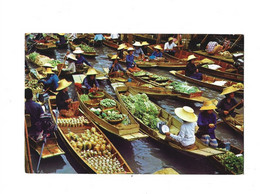 Floating Market Wat Sai Near Bangkok Thailand - Thailand
