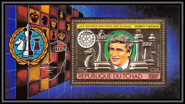 85913/ N°203 A Echecs Chess Bobby Fischer Rotary 1982 Tchad OR Gold Stamps ** MNH Overprint - Tschad (1960-...)