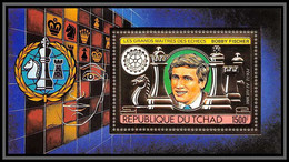 85915/ N°141 A Echecs Chess Bobby Fischer Rotary 1982 Tchad OR Gold Stamps ** MNH - Tschad (1960-...)