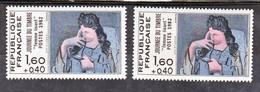 France 2205 Variétés Impression Décalée Droite Visage Très Pale Picasso   Neuf ** TB MNH Sin Charnela - Varieties: 1980-89 Mint/hinged