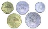 HAITI 5, 20, 50 CENTS, 1, 5 COURDES 5 COINS SET UNC - Haiti
