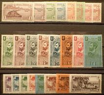 R2452/975 - 1932/1933 - COLONIES FR. - GABON - SERIE COMPLETE - N°125 à 146 NEUFS* - Cote (2020) : 200,00 € - Unused Stamps
