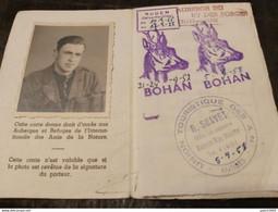Celles Sur Lesse BOHAN Les Amis De La Nature Auberge Du Ry Des Forges  1957-1958+ TIMBRES QUITTANCES 55,56,57,58,59 - Vresse-sur-Semois