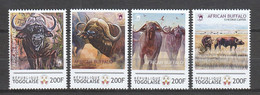 Togo - MNH Set AFRICAN BUFFALO - Animalez De Caza