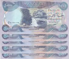 IRAQ 5000 DINAR 2003 P-94a LOT X5 UNC NOTES - Iraq