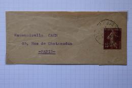 Q5 FRANCE BELLE BANDE DE JOURNAL 1926   POUR PARIS + COTE  60 E + AFFRANCH. INTERESSANT - Zeitungsmarken (Streifbänder)