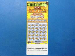 ITALIA BIGLIETTO LOTTERIA GRATTA VINCI USATO € 20,00 IL MILIARDARIO MAXI LOTTO 3037 - Lottery Tickets