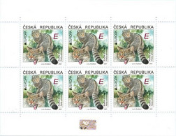 PRE-ORDER CZECH REPUBLIC EUROPA 2021 European Wildcat (Felis Silvestris) 1 M/s Of 6 Stamps MNH ** New Kočka Divoká Katze - Unused Stamps