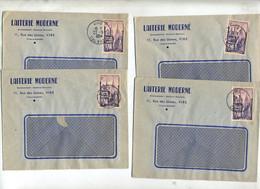Lettre Cachet  Vire Sur Quimper Entete Laiterie Moderne - Matasellos Manuales