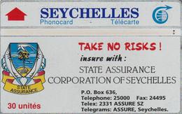 SEYCHELLES.  State Assurance Co (103H). 1991-03. 8000 Ex. SEY-10. (006). - Seychellen