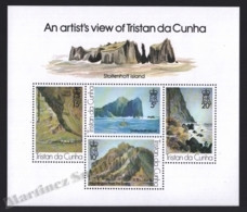 Tristan Da Cunha 1980 Yvert BF 10, Art. Paintings By Roland Svensson. Stoltenhoff Landscapes - Miniature Sheet - MNH - Tristan Da Cunha