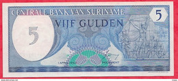 Surinam 1 Billet De  5 Gulden Du 01/04/1982  ---UNC---(70) - Surinam