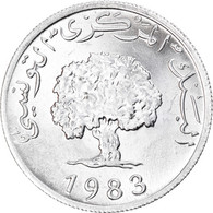 Monnaie, Tunisie, 5 Millim, 1983, SPL+, Aluminium, KM:282 - Tunisia