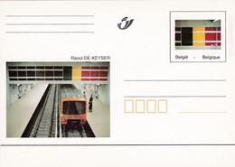 Carte Entier Postal Neuve Raoul De Keyser Métro Bruxelles Station Porte De Hal - Subway