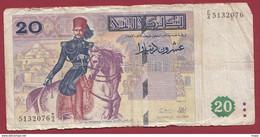 Tunisie 20 Dinars Du 07/11/1992 Dans L 'état---(74) - Tunisia