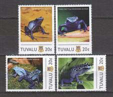 Tuvalu - MNH Set POISON DART FROG - Ranas