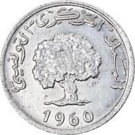 Monnaie, Tunisie, Millim, 1960, TTB+, Aluminium, KM:280 - Tunisia