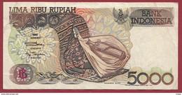 Indonésie 5000 Rupiah 1997 Dans L 'état--(75) - Indonesia