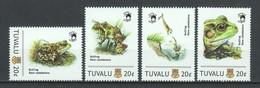 Tuvalu - MNH Set World Of Wildlife FROGS - Ranas