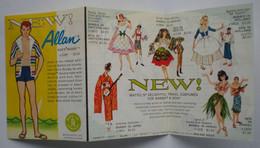 1 Petit Dépliant Poupée NEW ! BARBIE1963 En Anglais - Barbie