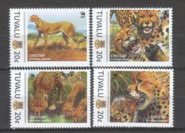 Tuvalu - MNH CHEETAH Set 1 - Felinos