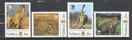 Tuvalu - MNH CHEETAH Set 2 - Felinos