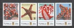 Tuvalu - MNH Set RED-KNOBBED STARFISH - Mundo Aquatico