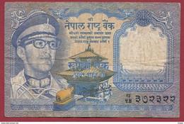 Népal 1 Ruppe 1974 (Sign 11)  Dans L 'état (82) - Nepal
