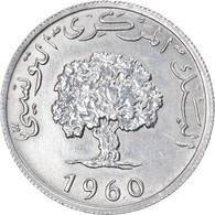 Monnaie, Tunisie, 5 Millim, 1960, TTB+, Aluminium, KM:282 - Tunisia