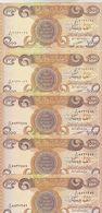 IRAQ 1000 DINAR 2003 P-93 LOT X 5 UNC NOTES - Iraq