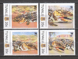 Tuvalu - MNH Set SHINGLEBACK LIZARD - Otros