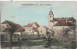 Champagney : Rue De L'église - Otros Municipios