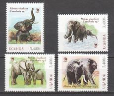 Uganda - MNH Set ELEPHANTS - Elefantes