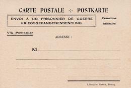 Envoi à Un Prisonnier De Guerre Franchise Militaire Via Pontarlier - War 1939-45